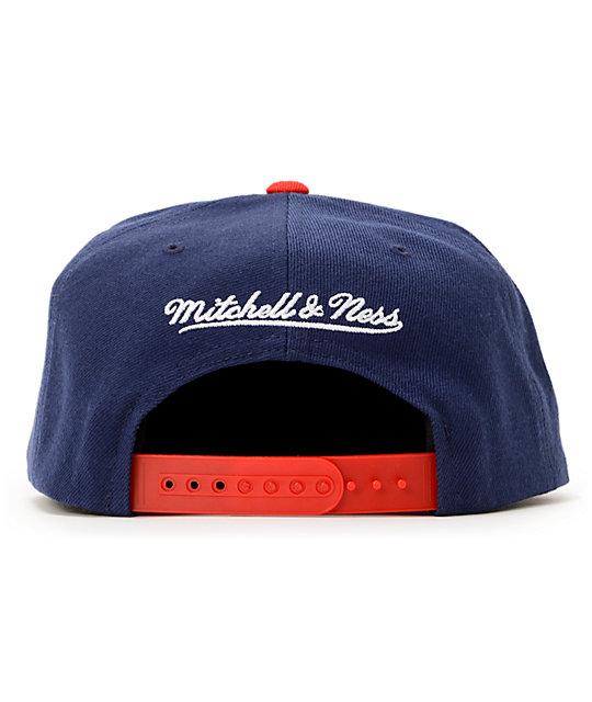 2fa98e64a ... NFL Mitchell and Ness Giants XL Logo 2Tone Blue Snapback Hat ...