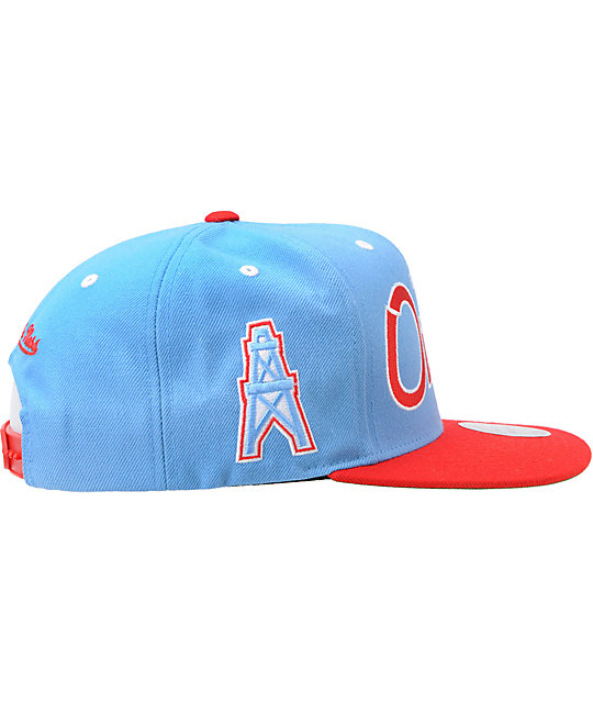... NFL Mitchell and Ness Houston Oilers Blue Snapback Hat 2c59fae5e78c