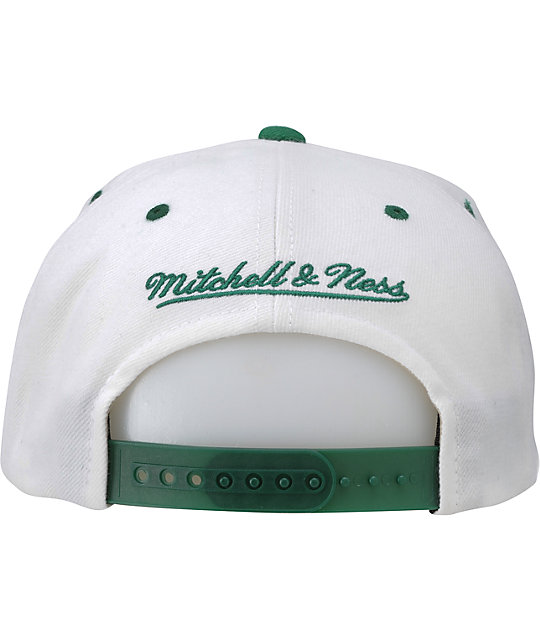 NFL Mitchell and Ness Jets White Arch Snapback Hat
