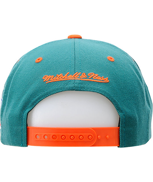 NFL Mitchell and Ness Miami Dolphins Snapback Hat