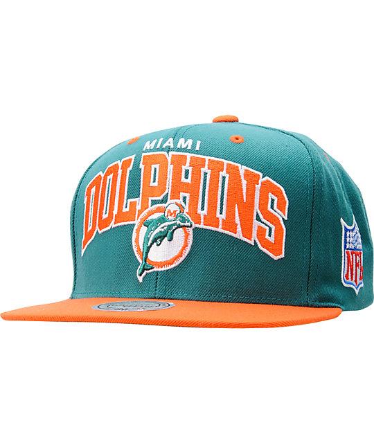 fc89967ff NFL Mitchell and Ness Miami Dolphins Snapback Hat | Zumiez