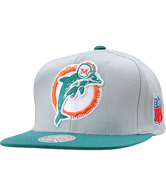 0d8f05736 NFL Mitchell and Ness Miami Dolphins XL Snapback Hat | Zumiez