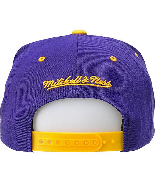 ... NFL Mitchell and Ness Minnesota Vikings Snapback Hat ... 72e21910b04