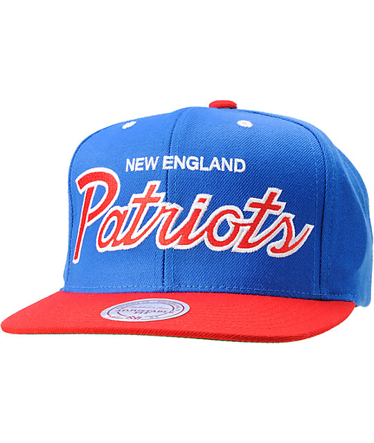 c93fe661 NFL Mitchell and Ness New England Patriots Snapback Hat