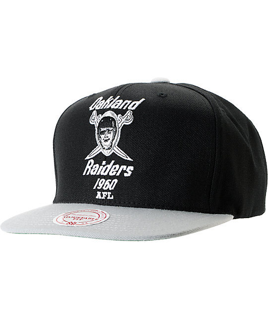 NFL Mitchell and Ness Oakland Raiders Throwback XL 2Tone Snapback Hat  64d0bba82ca