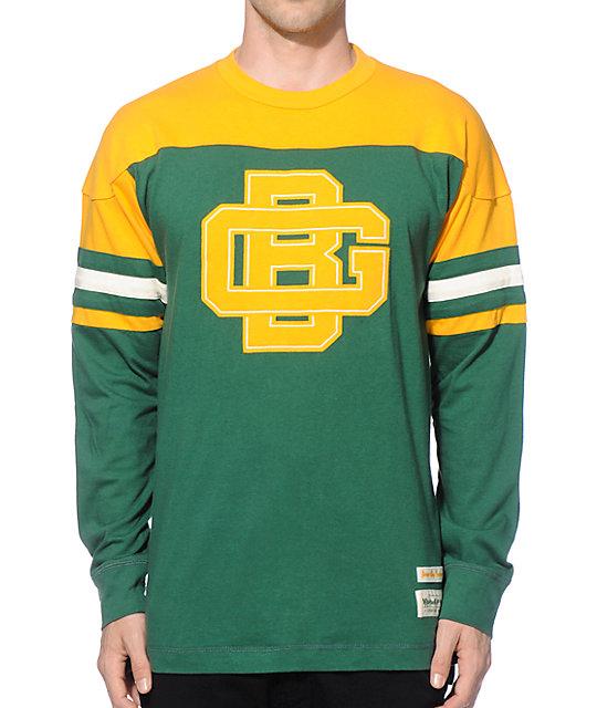 best website 1d6df d3b9d NFL Mitchell and Ness Packers Pump Fake Knit Jersey