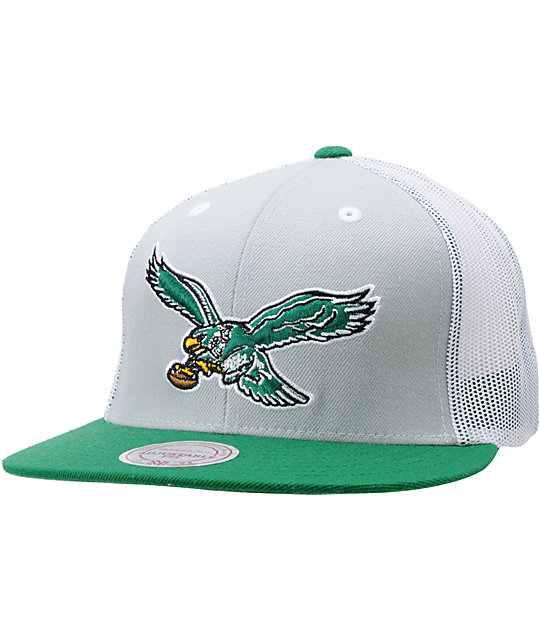 NFL Mitchell and Ness Philadelphia Eagles Mesh Snapback Hat