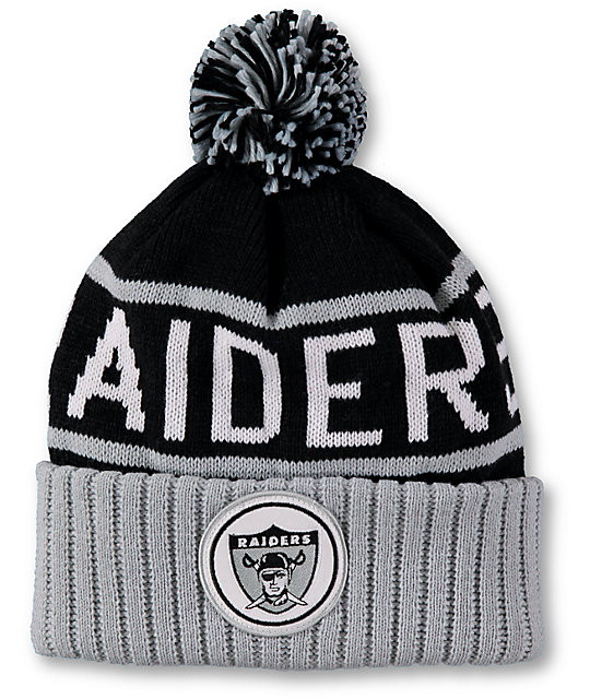 NFL Mitchell and Ness Raiders Pom Beanie  2605f9d88f3