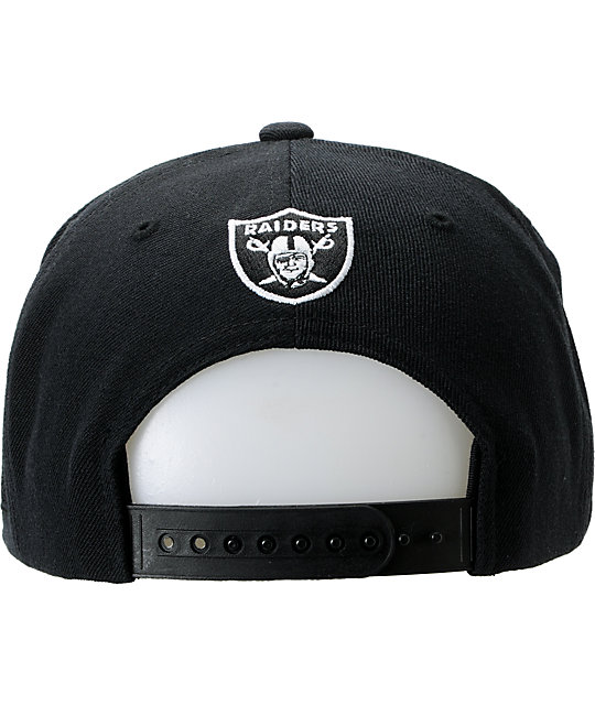 NFL Mitchell and Ness Raiders Script BOTB Black Snapback Hat