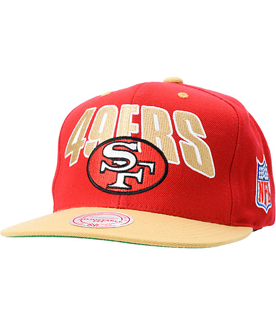 dd03e4b5810 NFL Mitchell and Ness San Francisco 49ERS Flashback Snapback Hat ...