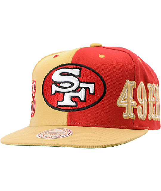 NFL Mitchell and Ness San Francisco 49ERS The Split Snapback Hat