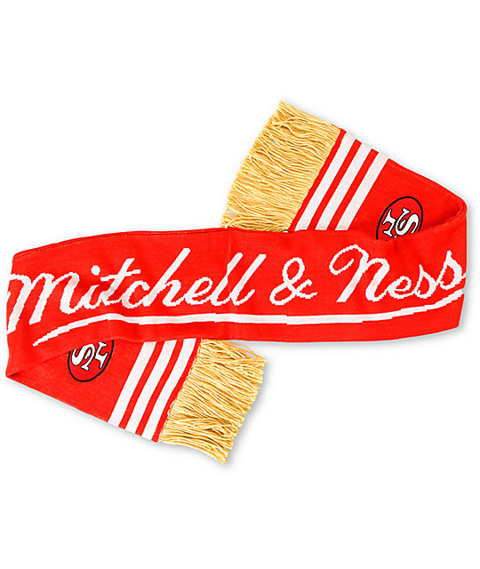 NFL Mitchell and Ness San Francisco 49ers Knit Scarf