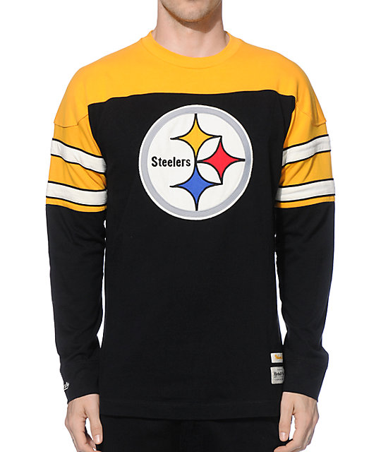 sports shoes 7affc d3e66 NFL Mitchell and Ness Steelers Pump Fake Knit Jersey