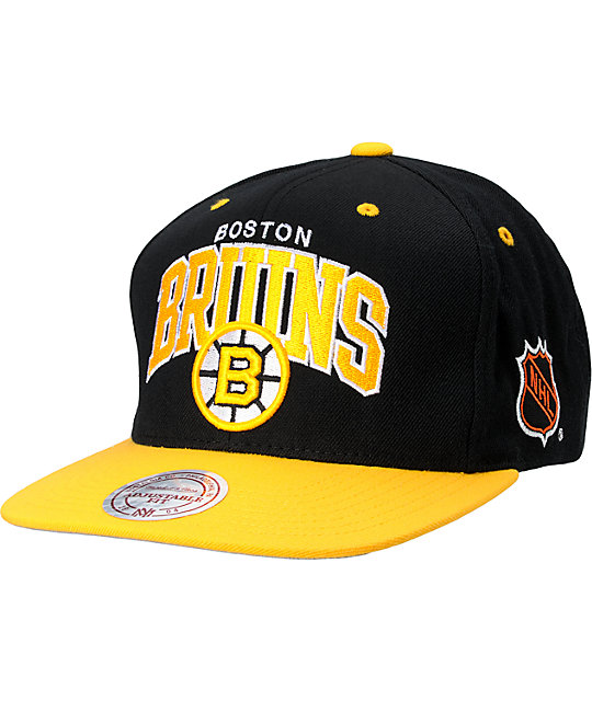 NHL Mitchell And Ness Boston Bruins Snapback Hat