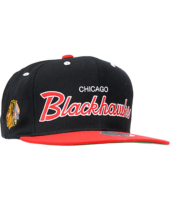 NHL Mitchell And Ness Chicago Blackhawks Snapback Hat  9a9c358a81b