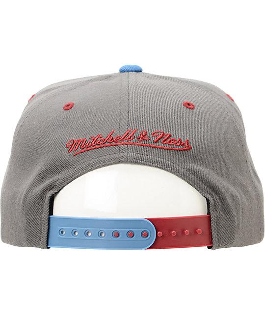 0cbb6300969 ... NHL Mitchell and Ness Avalanche Grey Splatter Snapback Hat ...