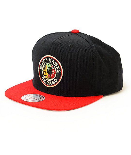NHL Mitchell and Ness Blackhawks 2 Tone Snapback Hat  de7c6fa54ee