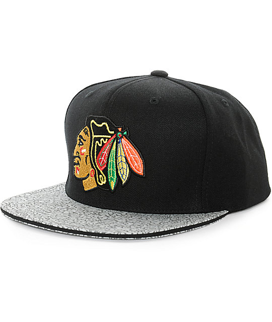 NHL Mitchell and Ness Blackhawks Crackle Layer Snapback Hat  08e721e03a8