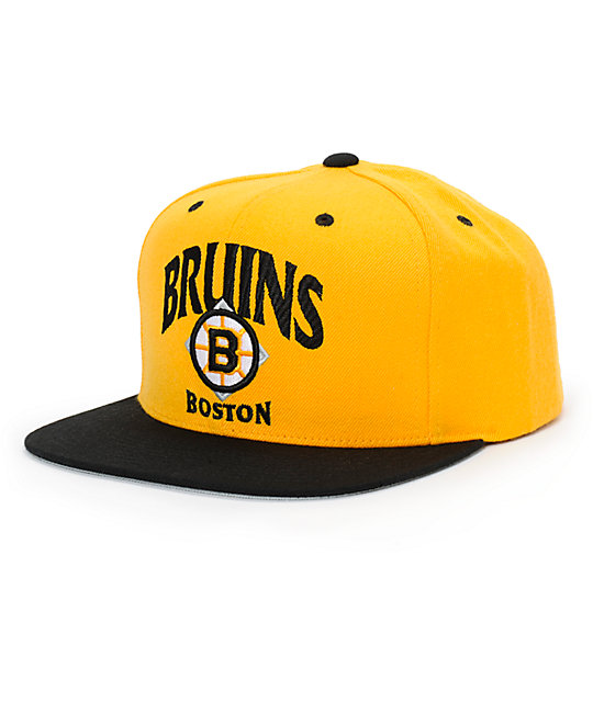 b1b023c988927 NHL Mitchell and Ness Bruins Grand Arch Snapback Hat