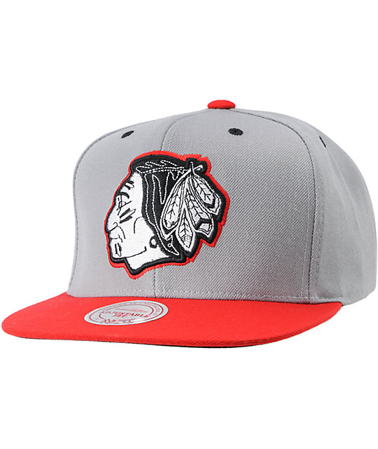 a6f2f6f7a0b NHL Mitchell and Ness Chicago Blackhawks Underbill Hat