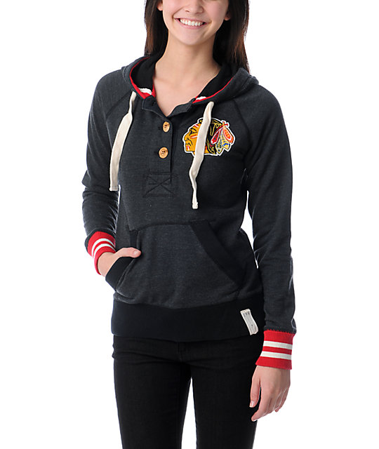 NHL Mitchell and Ness Chicago Blackhawks Victory Pullover Hoodie