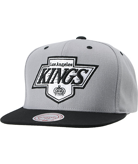 18f570834fde3 NHL Mitchell and Ness Kings Undervisor Arch Logo Snapback Hat