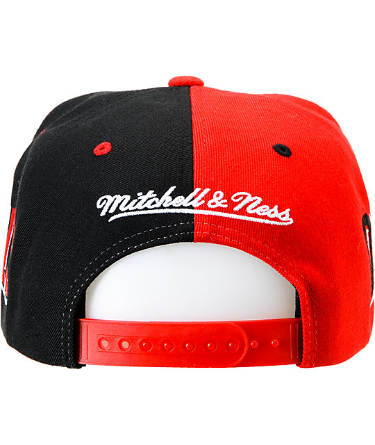 NHL Mitchell and Ness New Jersey Devils The Split Snapback Hat