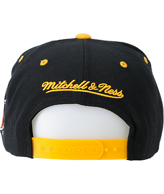 NHL Mitchell and Ness Pittsburgh Penguins Arch Snapback Hat