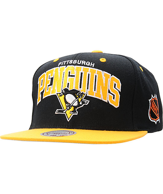 NHL Mitchell and Ness Pittsburgh Penguins Snapback Hat  35e96466ac35