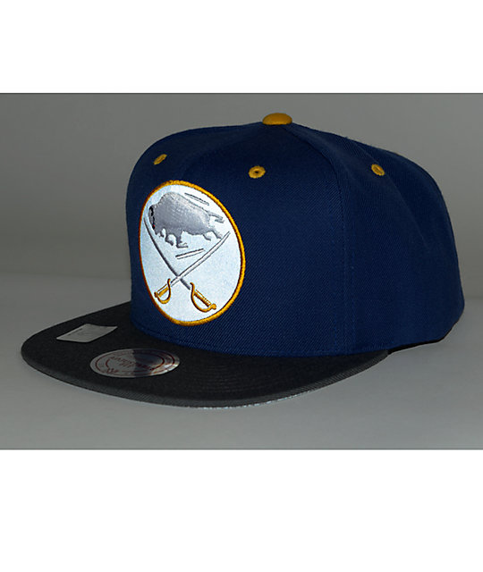 newest 3a1e9 a6963 ... NHL Mitchell and Ness Sabres XL Reflective Snapback Hat ...