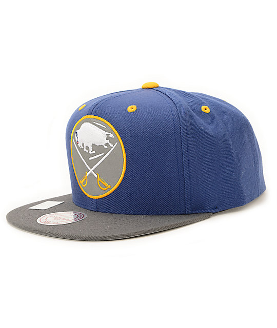 los angeles 340a6 4df9f NHL Mitchell and Ness Sabres XL Reflective Snapback Hat   Zumiez