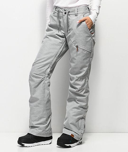 1c10cca39c230 Nadia Heather Grey 10K Snowboard Pants | Zumiez