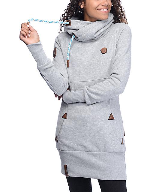 072b1f47f Naketano Lange IX Long Grey Hoodie | Zumiez