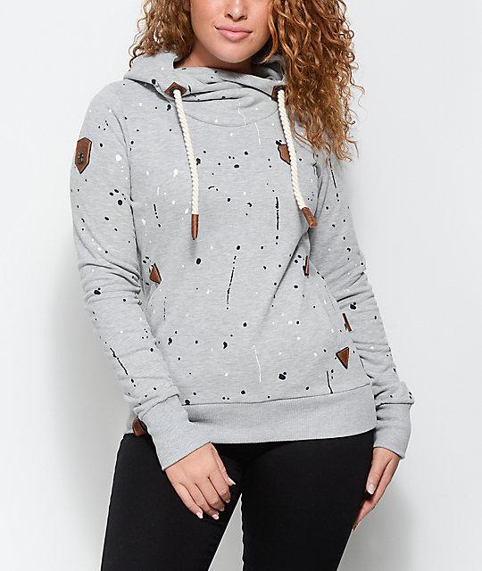 Naketano Hooded Sweater light grey