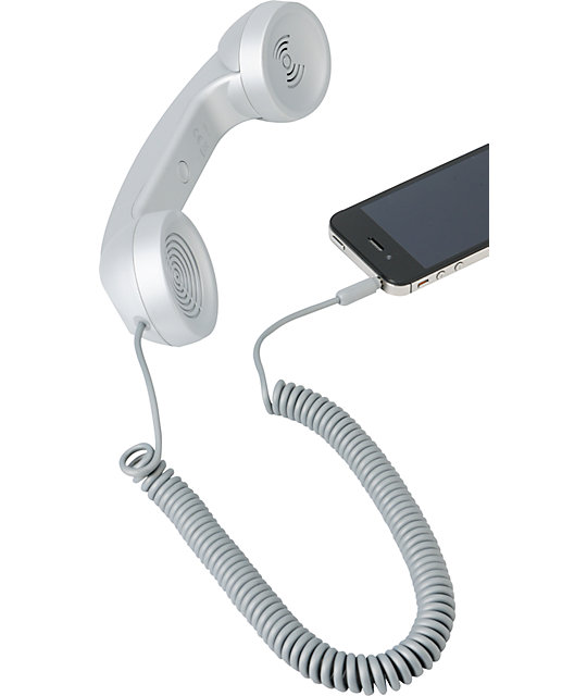 Native Union POP Retro Phone Handset in Silver