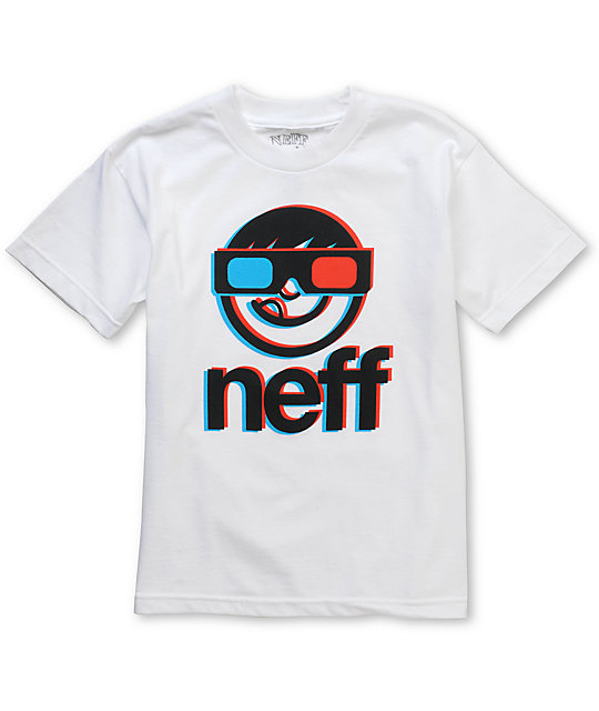 Neff 3RD DiMension Boys White T-Shirt