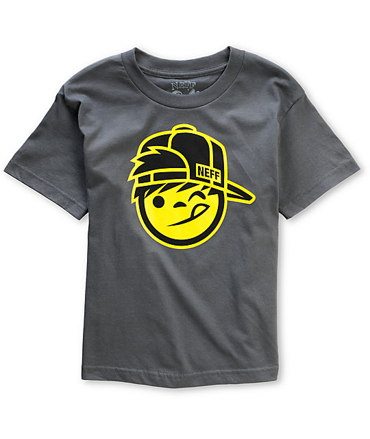 Neff Boys Kapp Grey T-Shirt