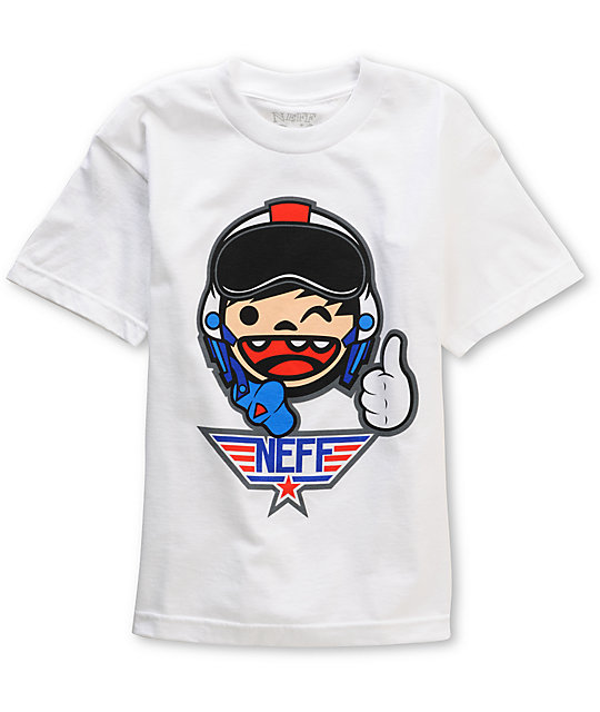 Neff Boys Top Gunner White T-Shirt
