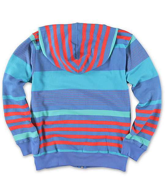 Neff Boys Wave Stripe Zip Up Hoodie