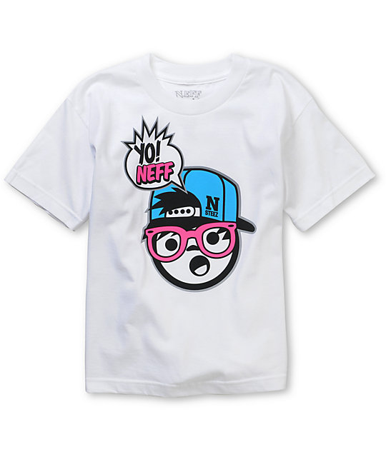 Neff Boys Yo Neff! White T-Shirt