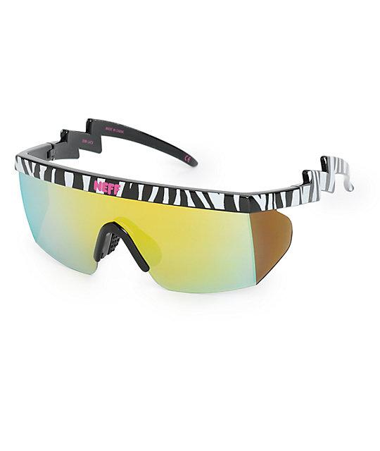 6d0b5bef032 Neff Brodie Zebra Sunglasses