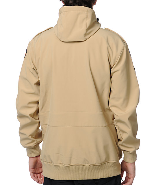Neff Camp Reject 10K Khaki Softshell Snowboard Jacket