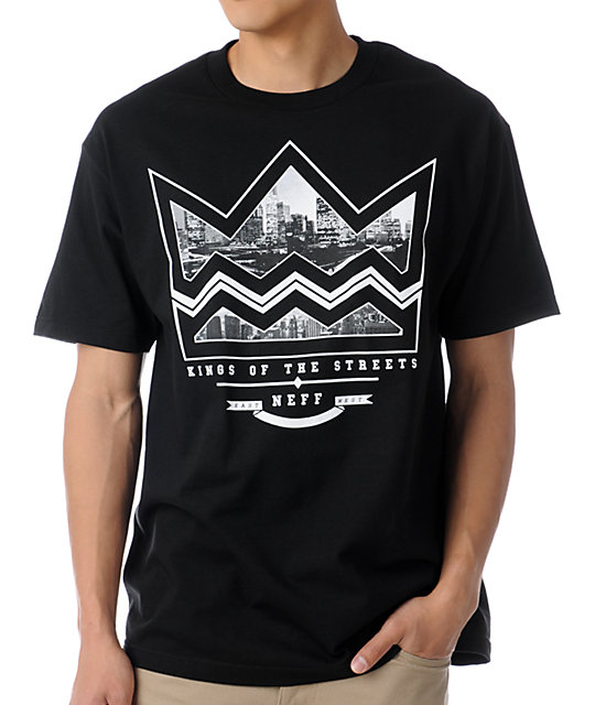 Neff City Crown Black T-Shirt