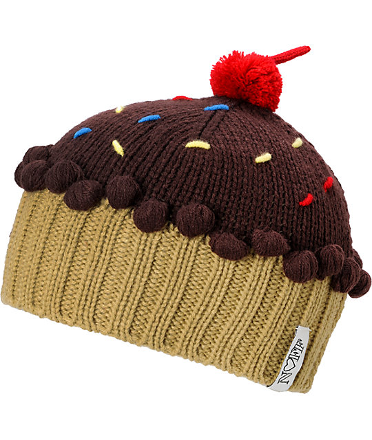 Neff Cupcake Chocolate Brown Beanie
