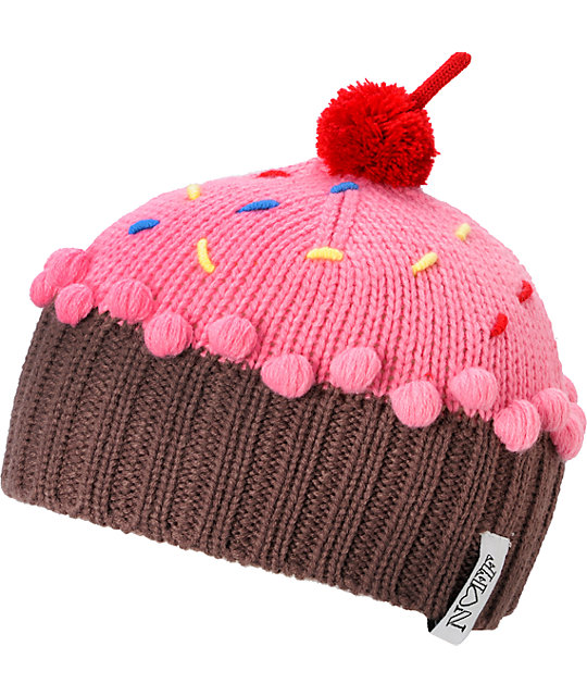 Neff Cupcake Strawberry Red Beanie