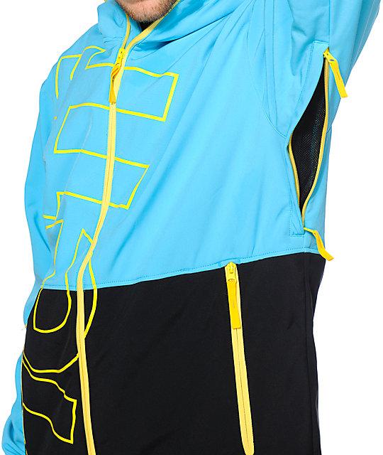 be81140329e ... Neff Daily 10k Cyan   Black Softshell Snowboard Jacket ...