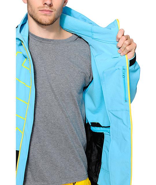 0ab5027abc3 ... Neff Daily 10k Cyan   Black Softshell Snowboard Jacket