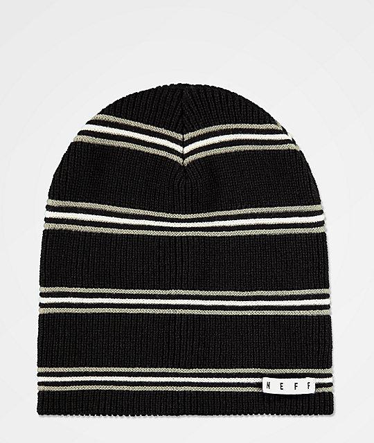1d96c2dc386 Neff Daily Black   Charcoal Stripe Beanie