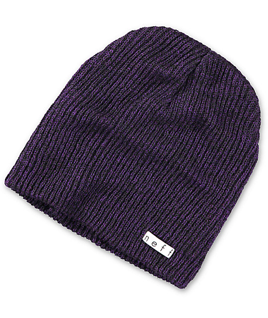 4f3ad74f105d54 Neff Daily Black & Purple Heather Beanie | Zumiez