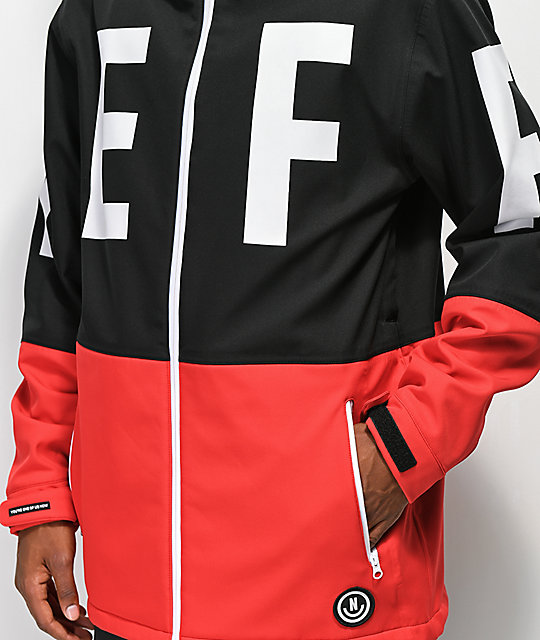 Neff Daily Black & Red 10K Softshell Jacket